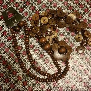 Paparazzi Honolulu Hula Brown Necklace Set x6